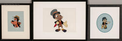Walt Disney Studios (American, 20th Century) and Harvey Toombs (American, 1909-1968)  Two Walt Disney Production Cels from Ji...