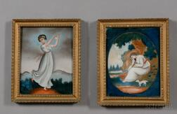 Chinese School, 19th Century      Lot of Two Works: Shepherdess