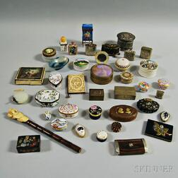 Large Group of Mostly Metal and Porcelain Boxes