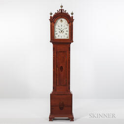 Central Massachusetts Inlaid Cherry Tall Clock