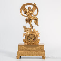 Gilt-bronze Mantel Clock