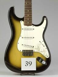 American Solid Body Electric Guitar, Fender Musical Instruments, Santa Ana, 1965, Model Stratocaster