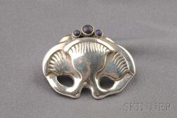 .826 Silver and Lapis Brooch, Georg Jensen