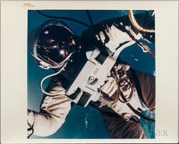 Gemini 4, Astronaut Edward H. White II Floats in the Zero Gravity of Space Outside the Spacecraft, June 3, 1965.
