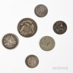 Six American Coins