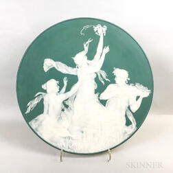 Large Mettlach Phanolith Cameo Charger