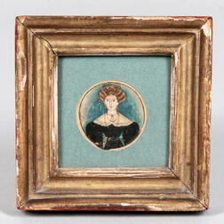 Portrait Miniature of a Fashionable Young Lady