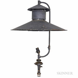 The Best Street Light Co. Black-painted Tin Gas Lamp