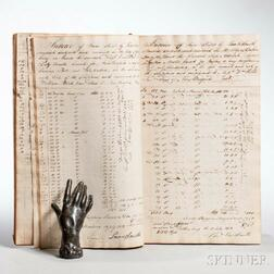Shipping Account Book, William Rotch Jr. & Son, New Bedford, 1808-1815.