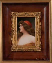 Continental Porcelain Portrait Plaque