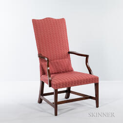 Federal Inlaid Mahogany Lolling Chair