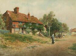 W. H. Finch  (British, 19th/20th Century)  By the Village Inn