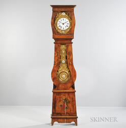 French Grain-painted Tall Case Clock