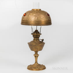 Georges Leleu Art Nouveau Oil Lamp