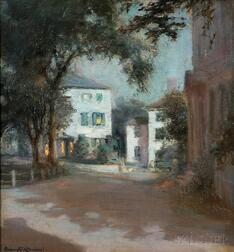 Orlando Rouland (American, 1871-1945)      By the Light of the Moon, Marblehead