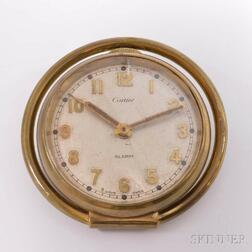 Vintage Cartier Eight-day Travel Alarm Clock