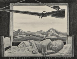Rockwell Kent (American, 1882-1971)      Heavy Heavy Hangs Over Thy Head