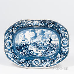 """Transfer-decorated """"Pickett's Charge"""" Platter"""