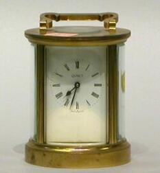 Quincy Brass Carriage Timepiece.