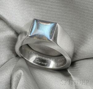"18kt White Gold and Labradorite ""Tank"" Ring, Cartier"