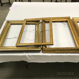 Four Rectangular Gilt Picture Frames.     Estimate $300-500