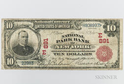 1902 The National Park Bank of New York Red Seal $10 Note