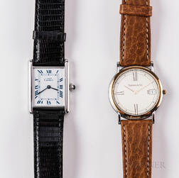 Two Cartier and Tiffany Wristwatches