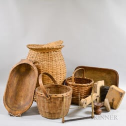 Group of Wooden Domestic Items