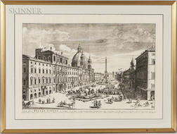 Pierre Mortier, Publisher (Dutch, 1661-1711)    Veue de la Piazza Navona a Rome...