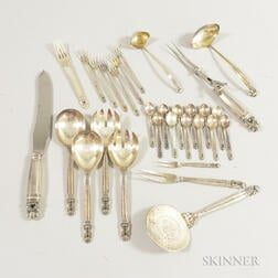 Group of Arts and Crafts Sterling Silver Flatware