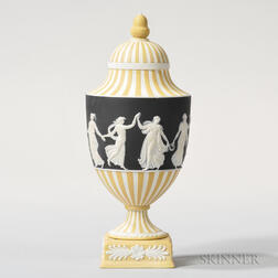 Wedgwood Tricolor Jasper Dip Vase and Cover