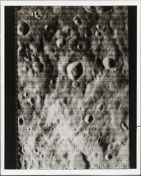 Lunar Orbiter 1, First U.S. Photograph of the Backside of the Moon, August 21, 1966.