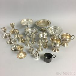Approximately Twenty Pieces of Sterling Silver Weighted Tableware