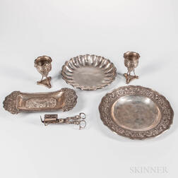 Five Pieces of Silver Tableware