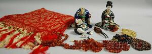 Small Group of Assorted Asian Decorative Articles and Accessories