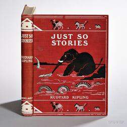 Kipling, Rudyard (1865-1936) Just So Stories for Little Children,   First Collected Edition.