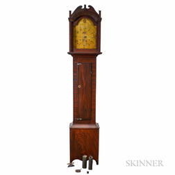 Riley Whiting Federal Grain-painted Tall Case Clock