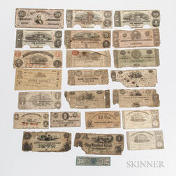 Group of Obsolete and Confederate Currency
