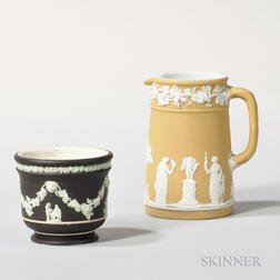 Two Wedgwood Jasper Dip Items