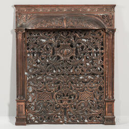 Bronze-plated Cast Iron Fireplace Grate