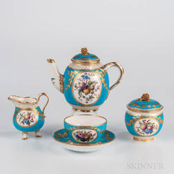 Four-piece Minton Bone China Solitaire Tea Set