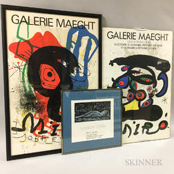 Eight Framed Museum Exhibition Posters