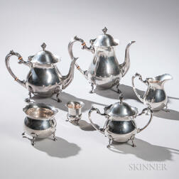 Six-piece Fisher Sterling Silver Tea and Coffee Service