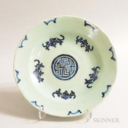 Blue and Celadon Dish
