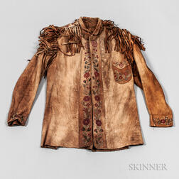 Cree Silk-embroidered Buckskin Jacket