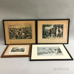 Three Framed Nathaniel Currier Lithographs