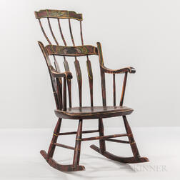 Painted Comb-back Rocking Chair