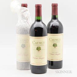 Caymus Vineyards Cabernet Sauvignon 1986, 3 bottles