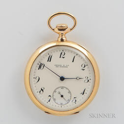 Patek Philippe 18kt Gold Open-face Watch for Shreve & Co.
