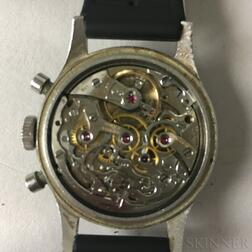 "Rare Longines Stainless Steel 13ZN ""Fly-back"" Chronograph Wristwatch"